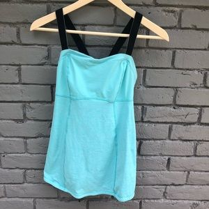 LLL Catch Me If You Can Blue Striped Active Tank 6